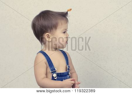 Little Girl With First Hairstyle