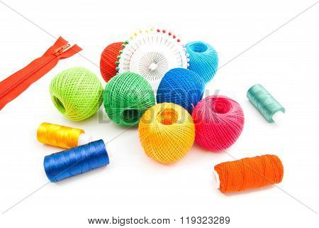 Thread, Pins And Zipper