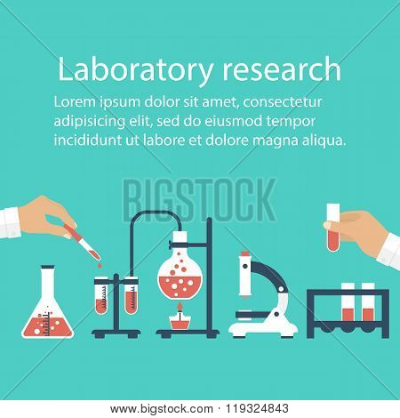 Medical Laboratory. Research, Testing, Studies In Chemistry, Physics, Biology. Laboratory Equipment.