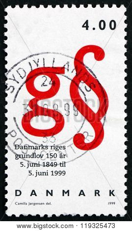 Postage Stamp Denmark 1999 Danish Constitution