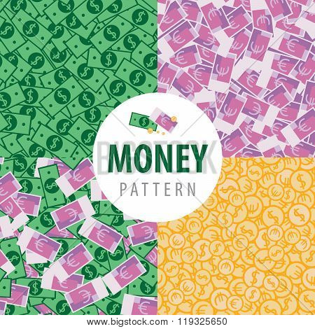 Set Of Patterns With Pot Of Money