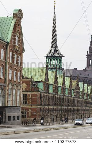 Copenhagen, Denmark -september 8: Old Stock Exchange Building In Copenhagen, Denmark On September 08
