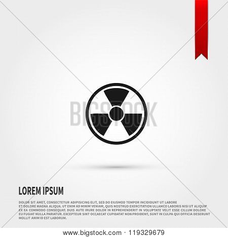 Radiation icon. Danger concept. Flat design s