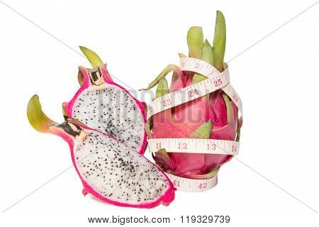 Dragon Fruit With A Tape Measure