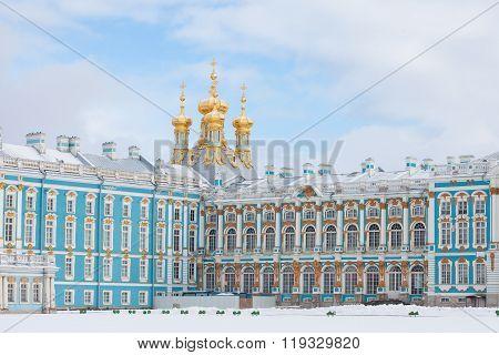 Catherine Palace in Pushkin town, Saint-Petersburg