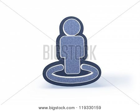 People Shopping Icon In Blueish Denim Look