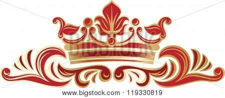 Richly Decorated Border With Crown.