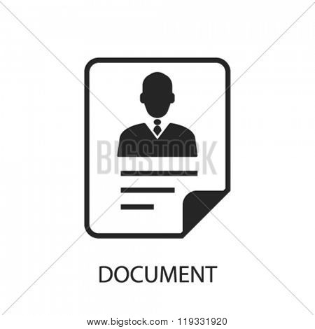 document icon, document logo, document icon vector, document illustration, document symbol