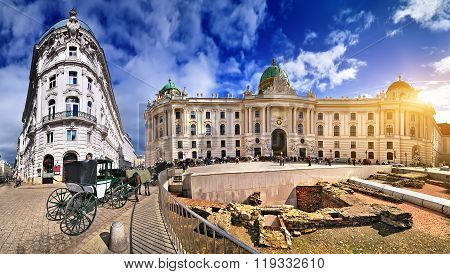 Imperial Architecture In Vienna - Hofburg Palace - Austria.
