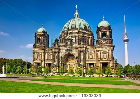 Berlin Cathedral In Berlin City At Germany
