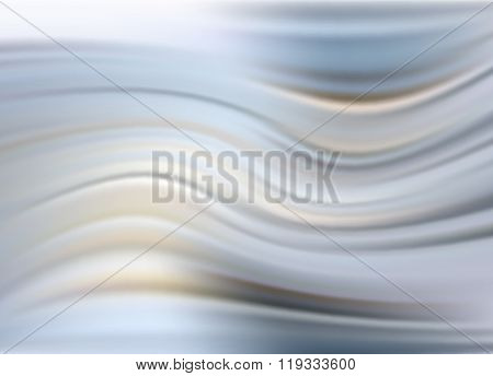 Abstract Modern Wavy Flowing Silk, Satin Background. Vector Elegant Smooth Wave Eps10