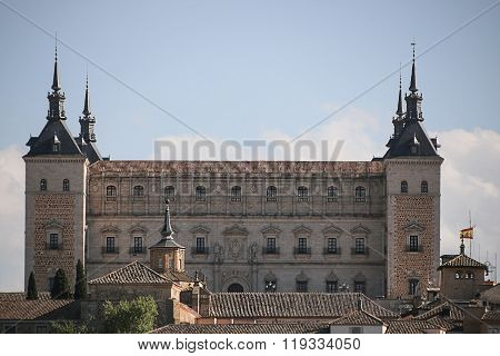 View Of The Alcazar In Toledo, Spain.