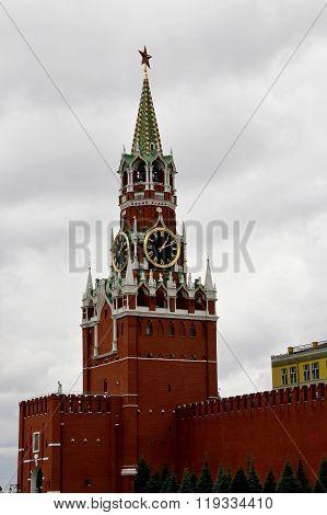 Moscow Kremlin. Spasskaya Tower. Russia