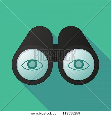 Illustration Of A Binoculars Viewing An Eye