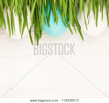 Easter Eggs with grass