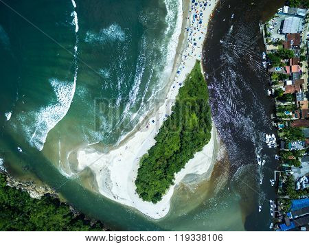 Top View of Barra do Una, Brazil