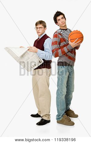 Geek and basketball player