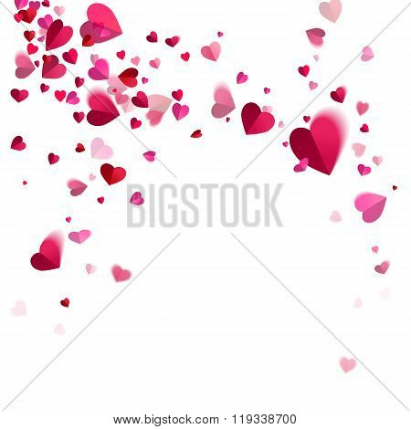 Whirlwind Confetti Of Hearts