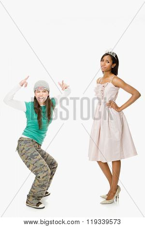 Skater and prom queen