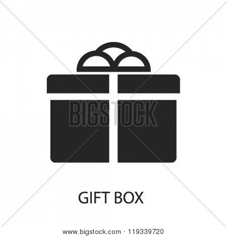 gift box icon, gift box logo, gift box icon vector, gift box illustration, gift box symbol