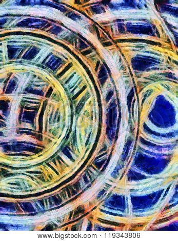 Circular Forms and Color Abstract