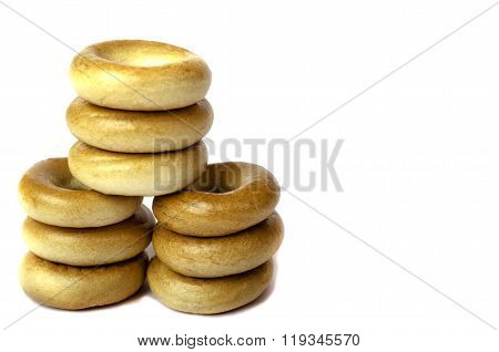 Bagels Vertically One On Another.