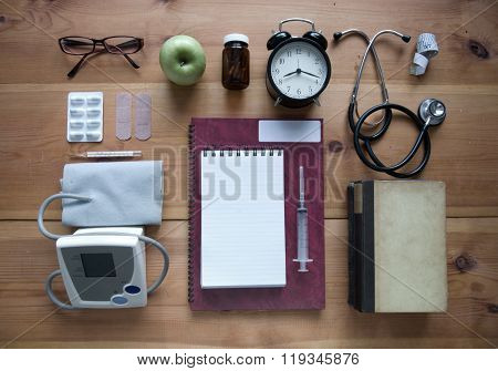 Medical Healthcare Flat Lay