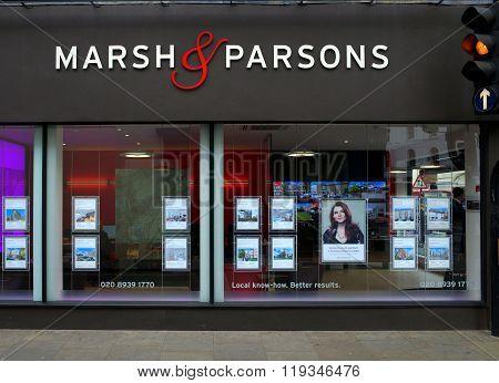Estate Agents Window - London