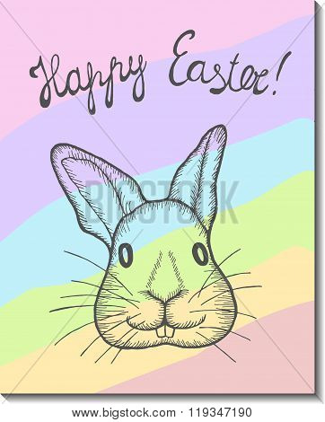 Easter bunny card.