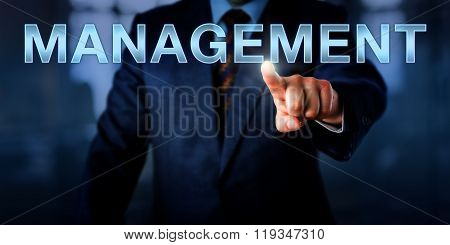 White Collar Professional Pointing At Management