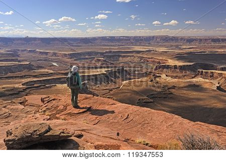 Looking Out Over The Canyonlands