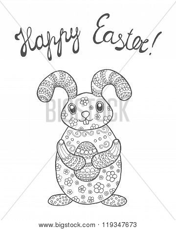 Easter bunny card.