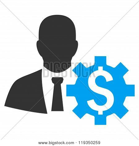 Banker Options Flat Vector Icon