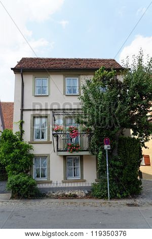 House In Rothenburg Ob Der Tauber, Germany.