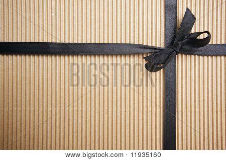 Corrugated Gift Box with Black Satin Ribbon