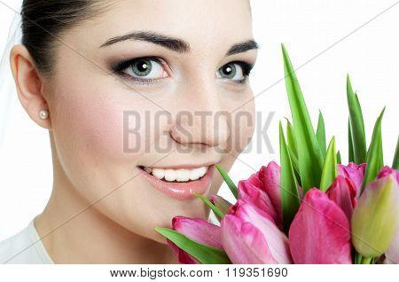Bride Closeup Portrait