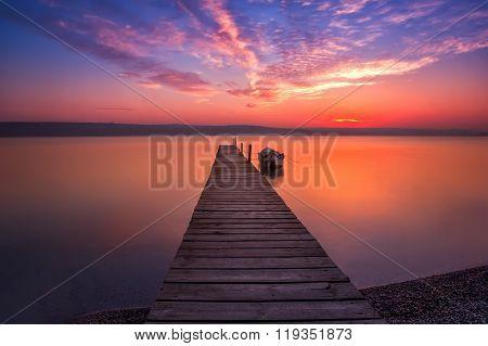 Magnificent long exposure sunset