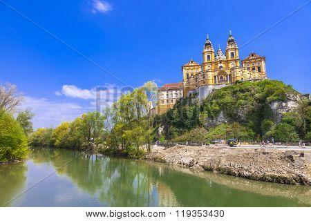 Melk abbey - unesco heritage site in Austria