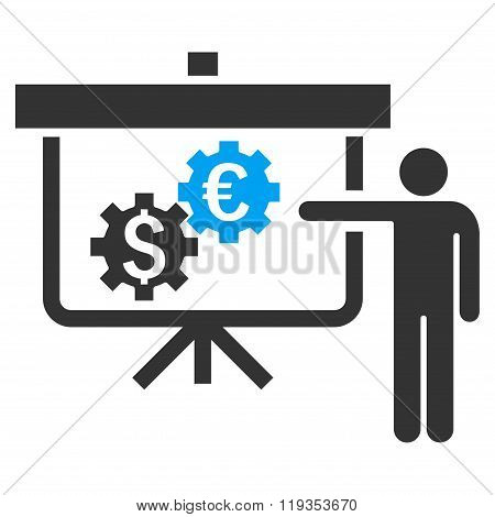 International Banking Project Flat Vector Icon