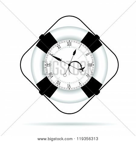 Clock In Live Saver Illustration