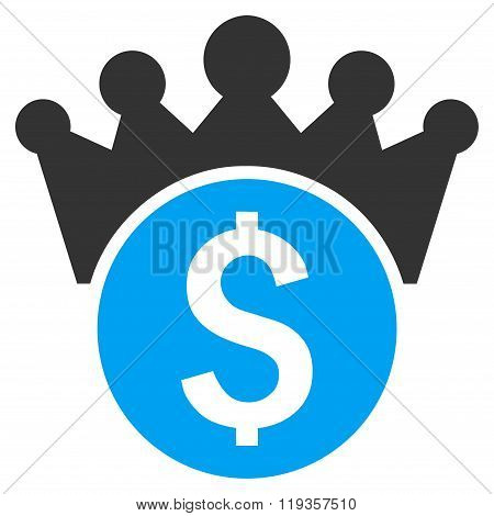 Financial Power Flat Glyph Icon
