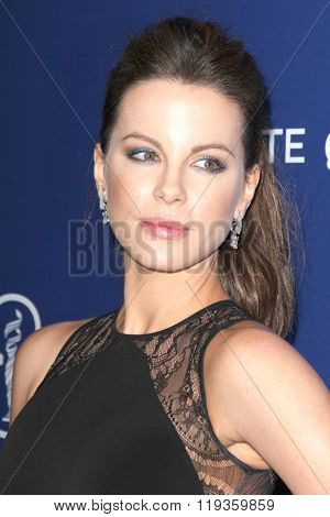 LOS ANGELES - FEB 23:  Kate Beckinsale at the 18th Costume Designers Guild Awards at the Beverly Hilton Hotel on February 23, 2016 in Beverly Hills, CA