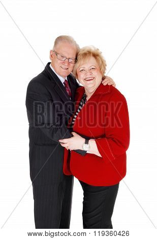 Lovely Senior Couple Hugging.