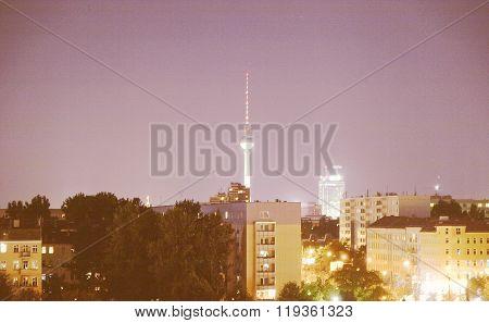 Berlin At Night Vintage