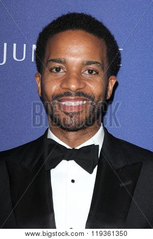 LOS ANGELES - FEB 23:  Andre Holland at the 18th Costume Designers Guild Awards at the Beverly Hilton Hotel on February 23, 2016 in Beverly Hills, CA