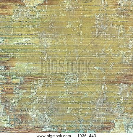 Old grunge textured background. With different color patterns: yellow (beige); brown; green; gray