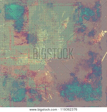 Antique vintage textured background. With different color patterns: brown; blue; purple (violet); cyan; gray