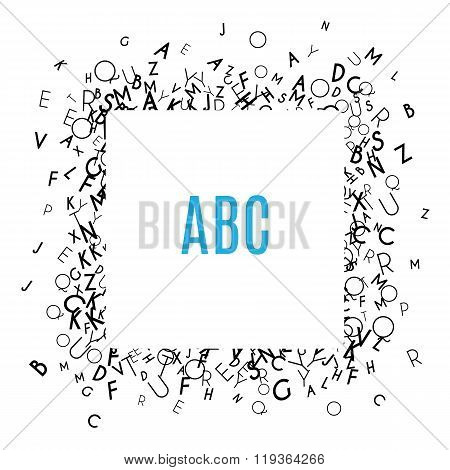 Alphabet Frame isolated on white background