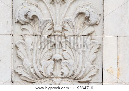 Classical Architecture Column and Frieze ornament