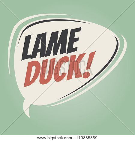 lame duck retro speech balloon